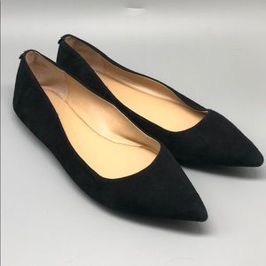 Michael Kors black suede pointy toe flats